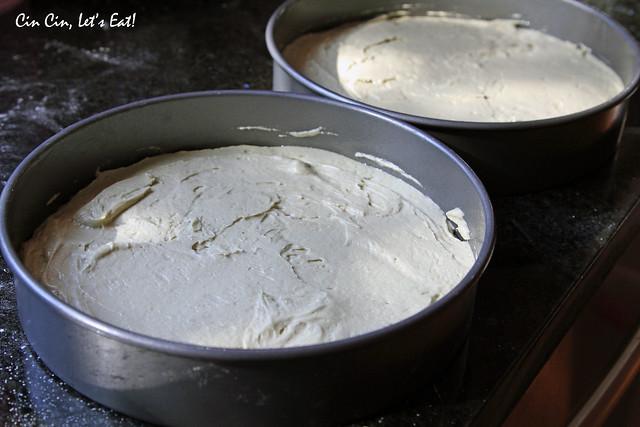 matcha chestnut cake_batter