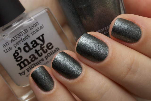 11 Zoya Cassedy + Picture Polish G'day Matte Topcoat