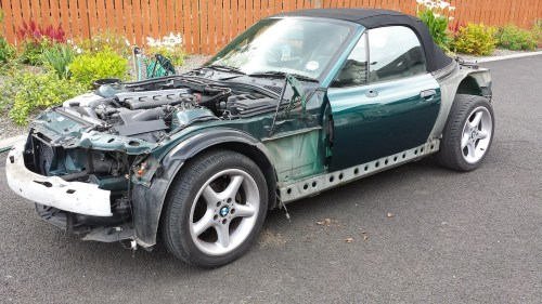 small resolution of 28th june 2014 old bmw panels removed