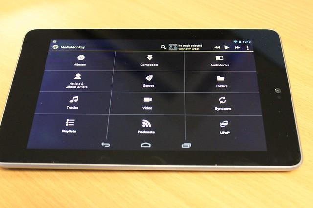 MediaMonkey on a Nexus 7