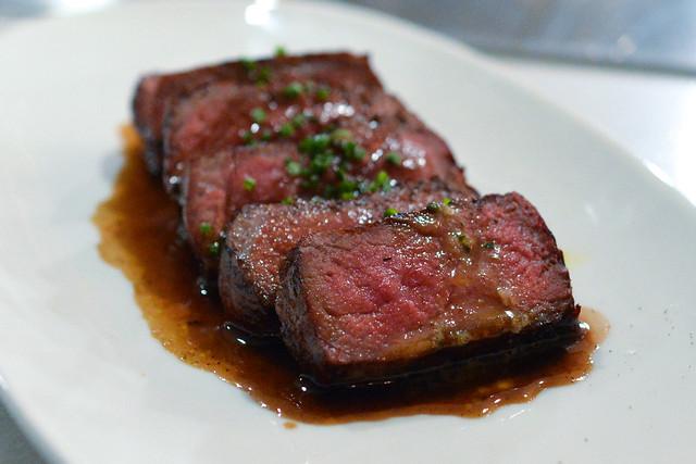 Prime Strip Loin Steak Frites sauce bearnaise