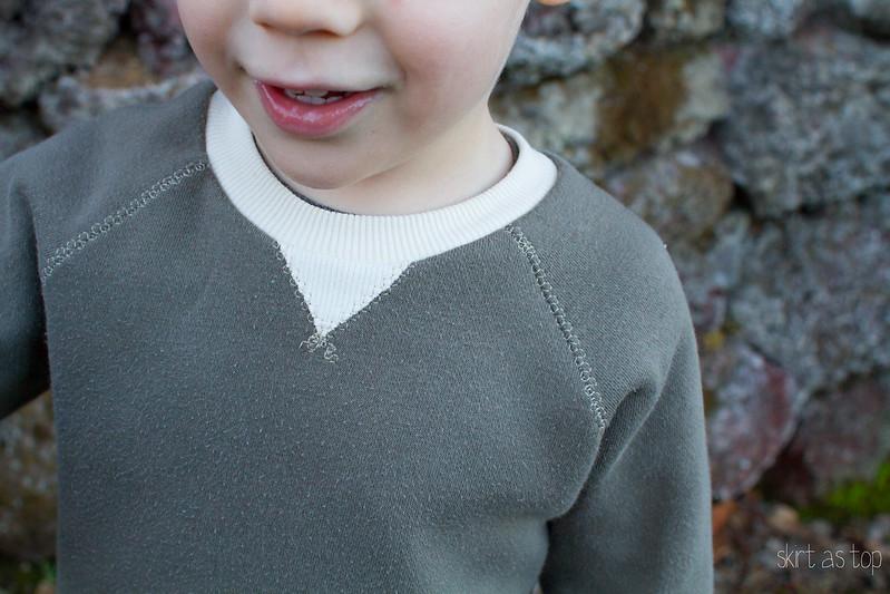 retro raglan sweatshirt