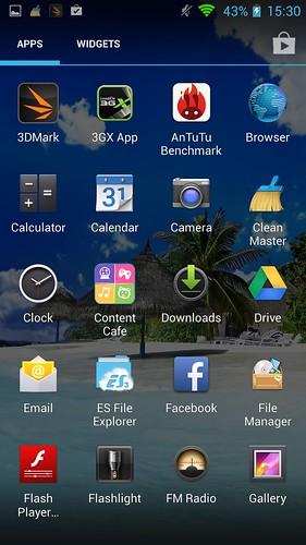 App tray ของ i-mobile IQX Octo