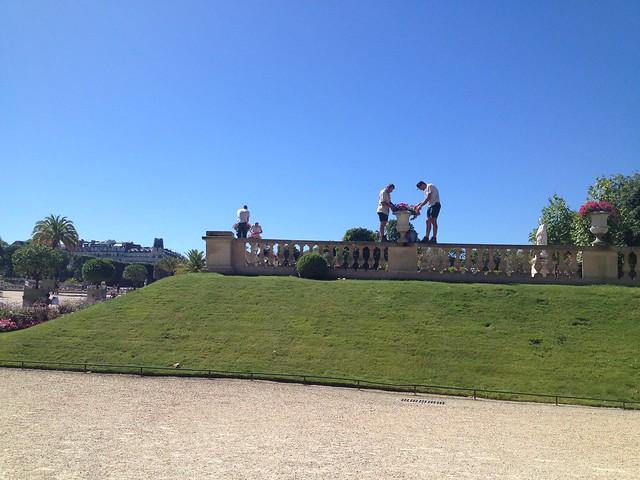 Jardin du Luxembourg gardeners