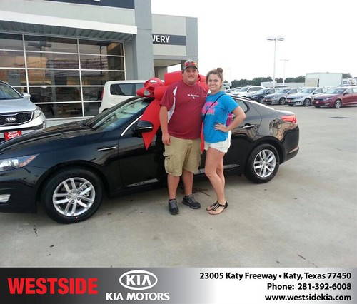 Thank you to Lauren Chisum on the 2013 Kia Optima from Fabian Murphy and everyone at Westside Kia! by Westside KIA