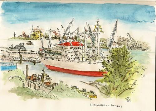 Cap San Diego, Landungsbrücke, Hamburg by JLing81