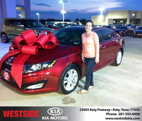 Thank you to Patty Cueto on the 2013 Kia Optima from Gil Guzman and everyone at Westside Kia! by Westside KIA