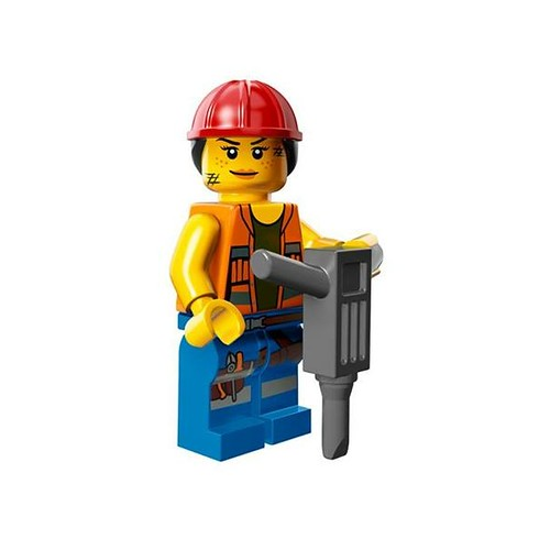 The LEGO Movie Minifigures Gail the Construction Worker