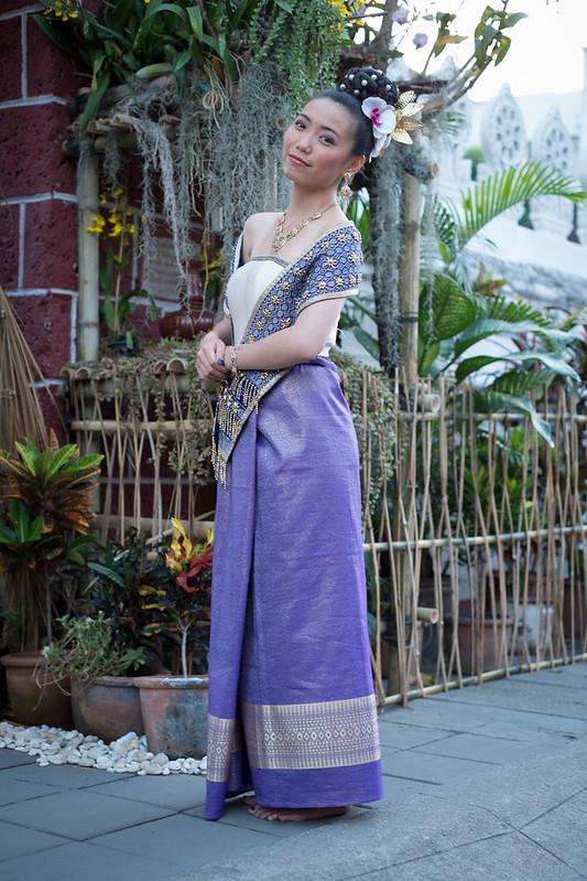 Carol at Wat Bupparam, Chiang Mai, Thailand