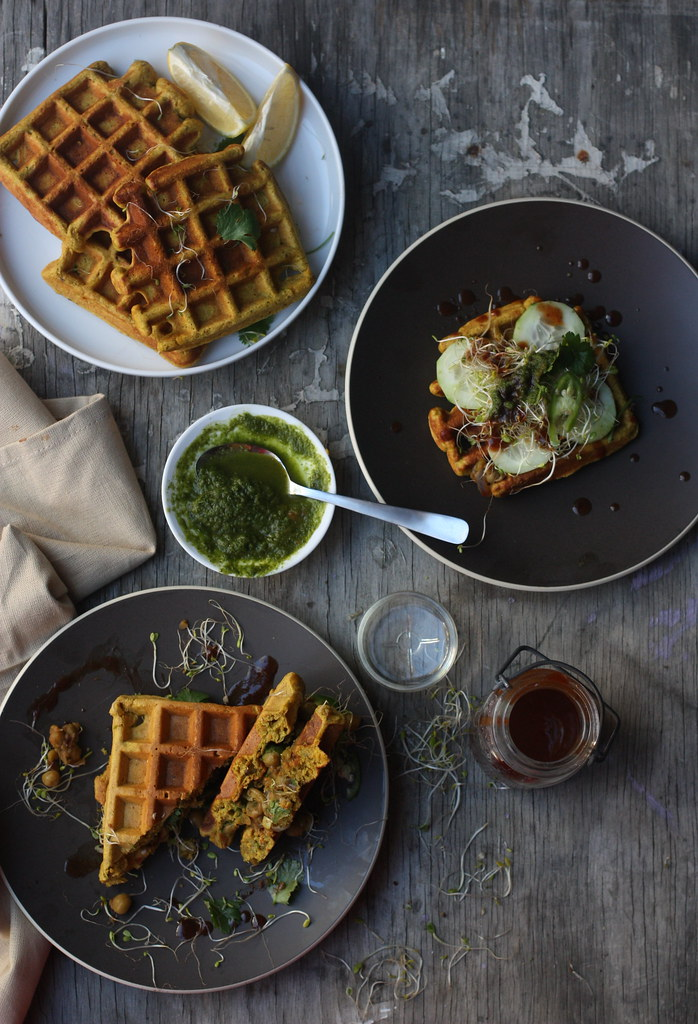 Whole Grain Savory Waffles 5