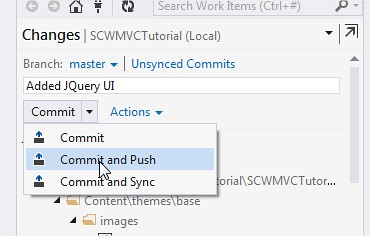 Commit and Push Visual Studio 2013