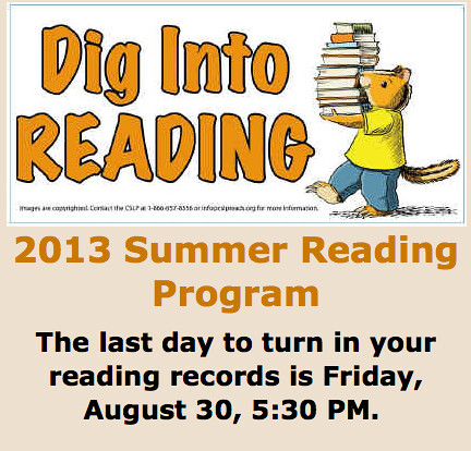 Dig Into Reading through August!