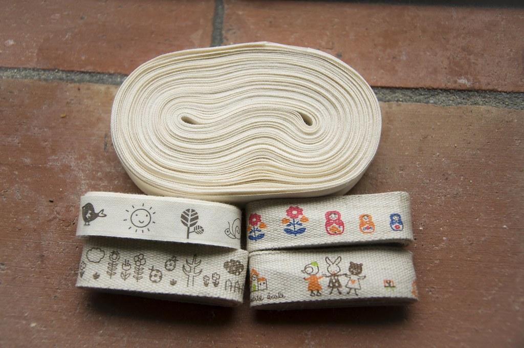fitas de algodão e linho