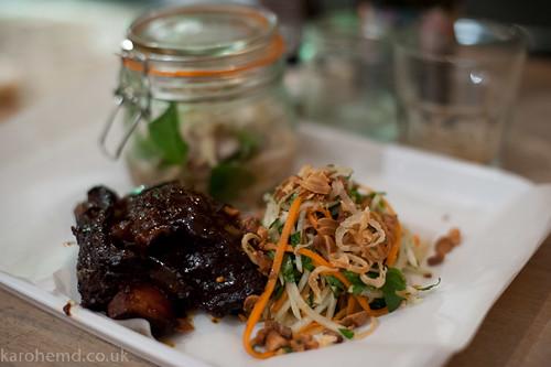 Beef pho, short rib, salad