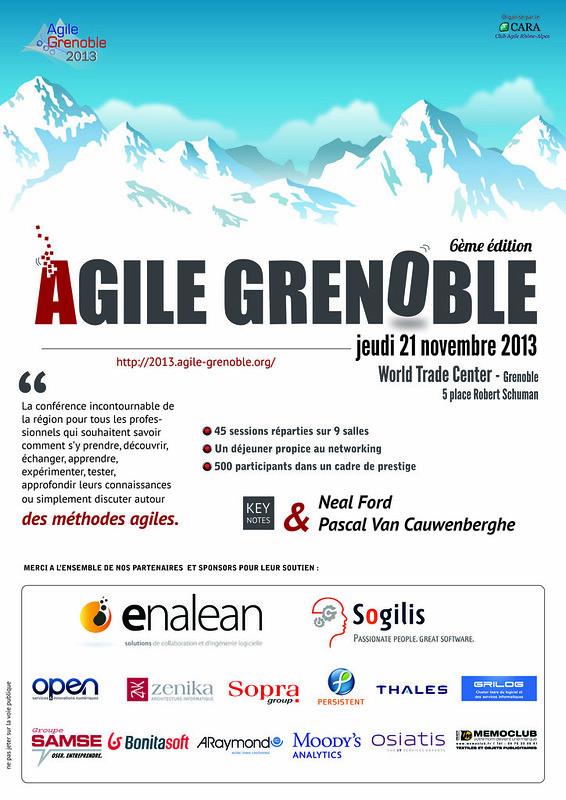 Affiche Agile Grenoble 2013
