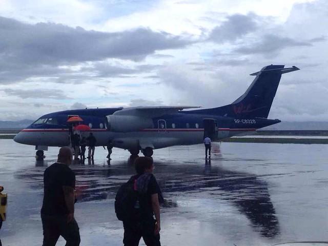Justin Bieber arrives in Tacloban