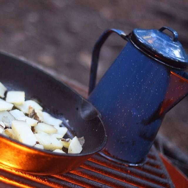 Cooking breakfast #camping #bigbasinstatepark #adventureswithlauren #intothewild