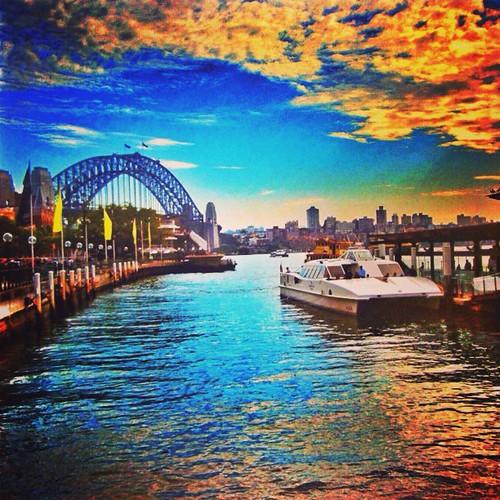 #harbourbridge #sydney #australia  from #circularquay by @MySoDotCom