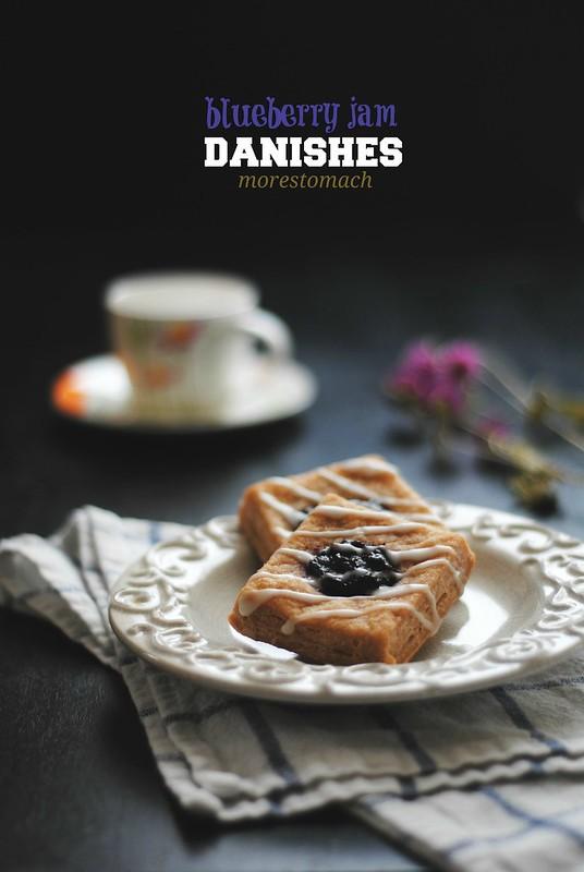 Blueberry Jam Danishes