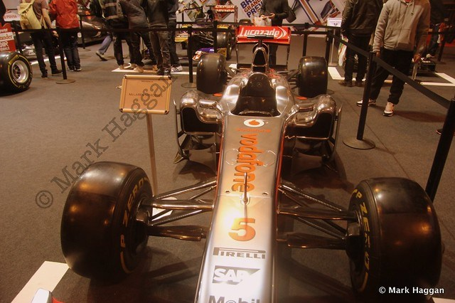 Jenson Button's Mercedes at the Autosport International Show 2014