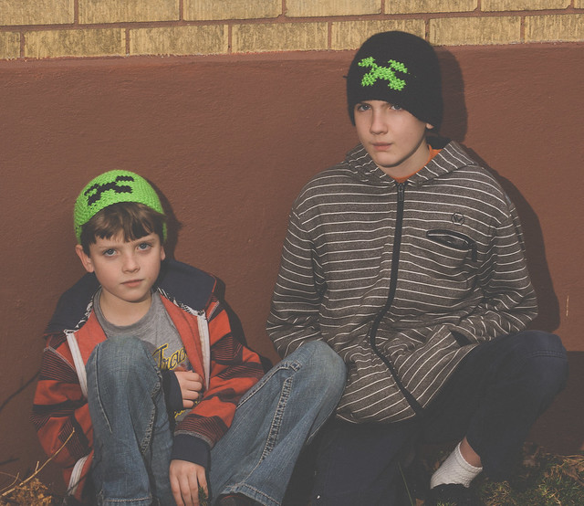 Crocheted Creeper Hats