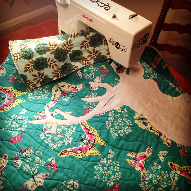 Deer Quilt in Progress