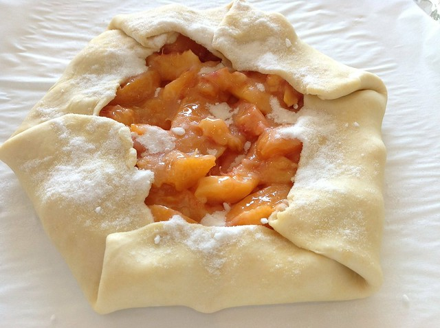 Nectarine & apricot galette