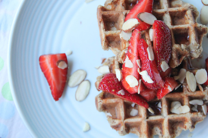 multigrain banana waffles are ready to be eaten