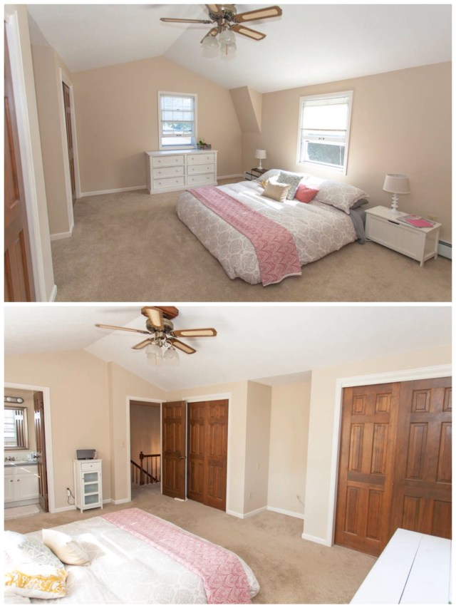 Upstairs is the master bedroom.