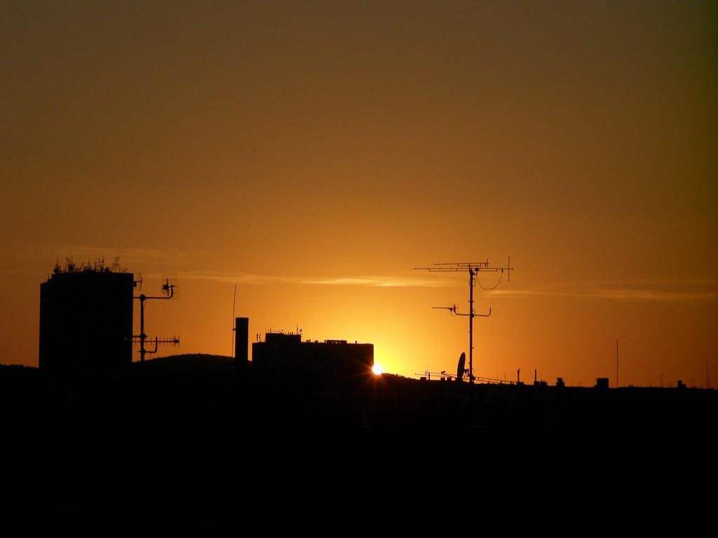 Sunset over Brno (Sept. 7, 2013)