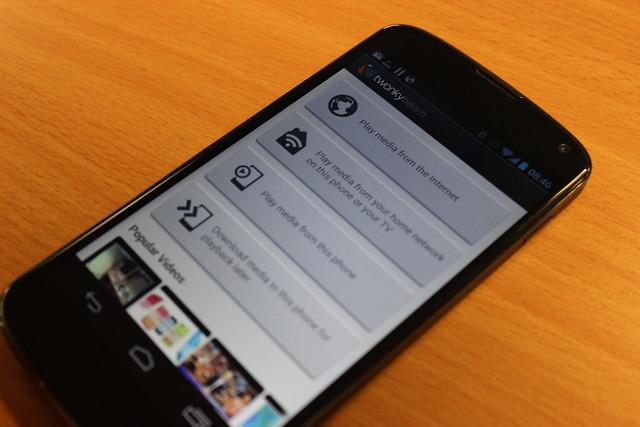 Twonky Beam on a Nexus 4