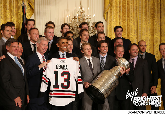 Blackhawks Visit the White House and President Obama   11/04/13