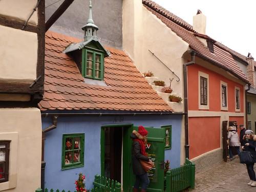 Callejón del oro en Praga (Navidad en Praga)