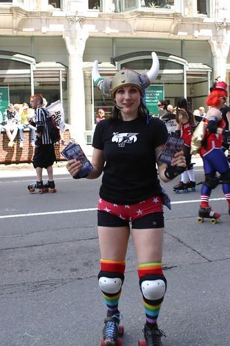 Roller derby lady