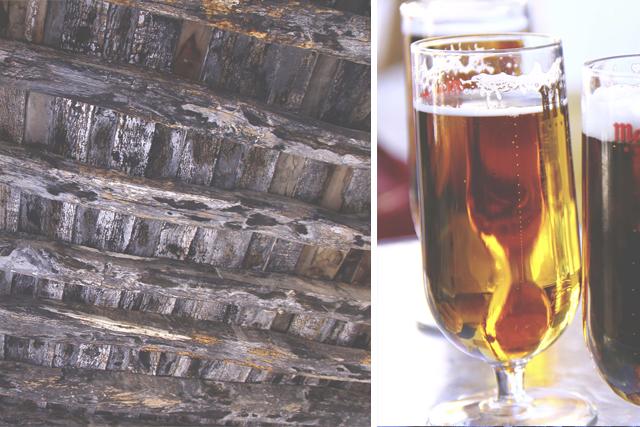 beer detail old wood ceiling