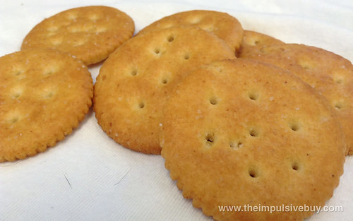 Nabisco Limited Edition Caramelized Onion Ritz Crackers Closeup