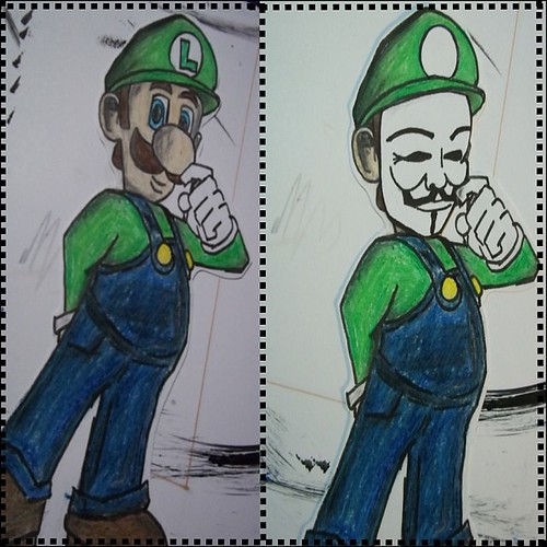 Working on Luigi with a twist. by oddbroad