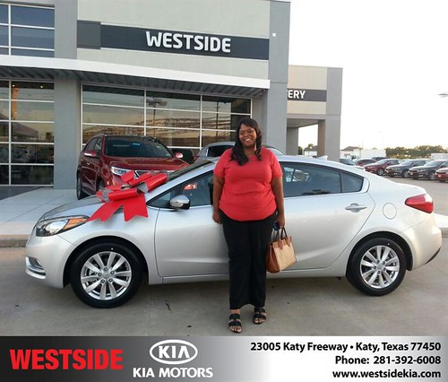 Thank you to Denise Daniels on your new 2014 #Kia #Forte from William Hadnott and everyone at Westside Kia! #BrandNewRide by Westside KIA