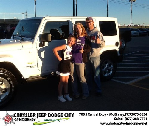 Thank you to Traci Tatum on your new 2014 #Jeep #Wrangler Unlimited from Joe Ferguson  and everyone at Dodge City of McKinney! #RidingInStyle by Dodge City McKinney Texas