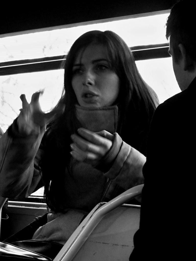 Young Woman Explaining Something