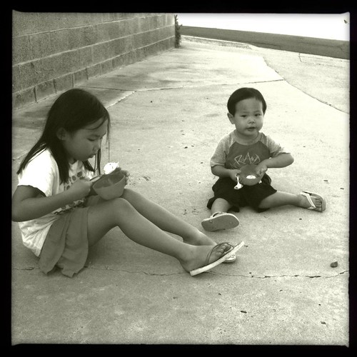 We all like to sit on the warm concrete. by mliu92