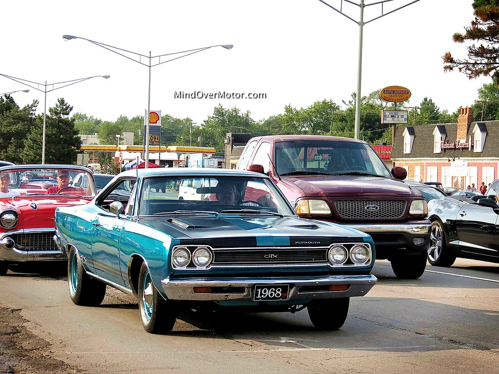 1968 Plymouth GTX at the Woodward Dream Cruise