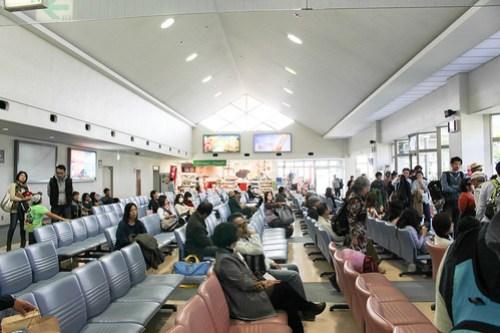 宮古空港の待合室