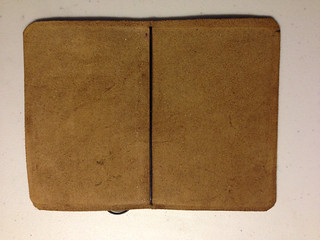 Davis Leatherwork Simple Notebook Cover Inside
