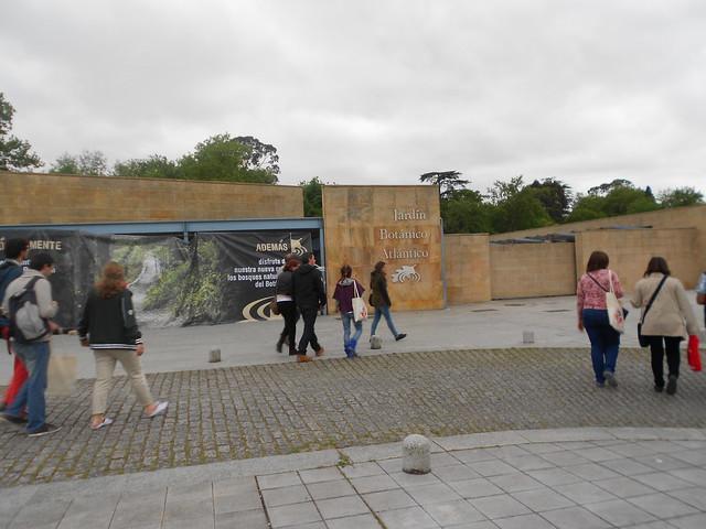 Entrada al Jardín Botánico Atlántico