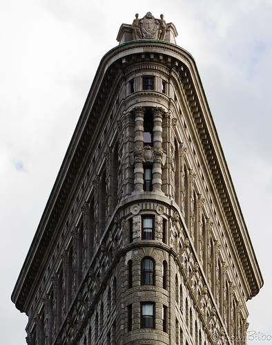 On top of Flatiron building. NY by JoseluBilbo.