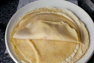 step two: fold one side over the filling