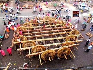 "Rathyatra Construction Work 2013 <a href=""https://puriwaves.nirmalya.in/rathyatra/odisha-puri-rathyatra"" rel=""nofollow"">puriwaves.nirmalya.in/rathyatra/odisha-puri-rathyatra</a>"