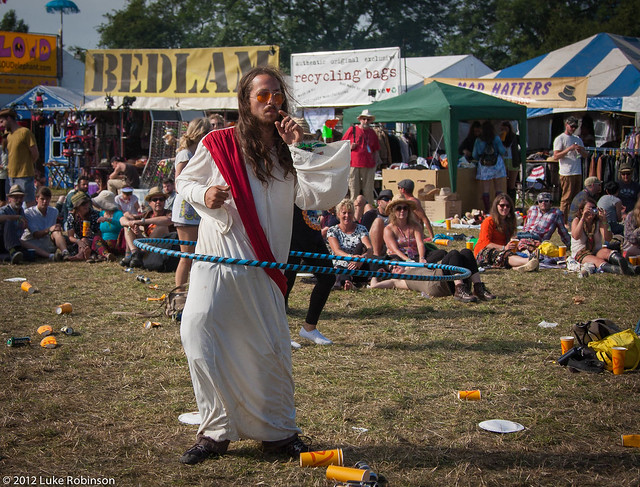 Hula Hoop Jesus (AKA Pirate Dan, AKA the Charity Bin Painter), West Holts