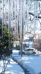 Front door icicle curtain